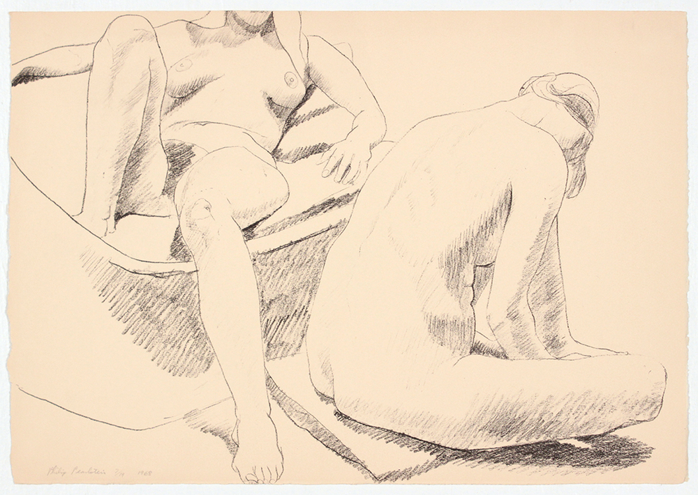 Two Seated Nudes , 1968 Lithograph 35.7 x 51.2 cm