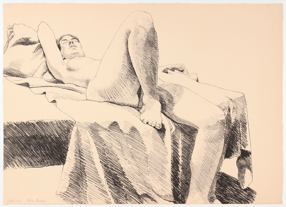 One Leg Up , 1968 Lithograph 51.4 x 71.5 cm