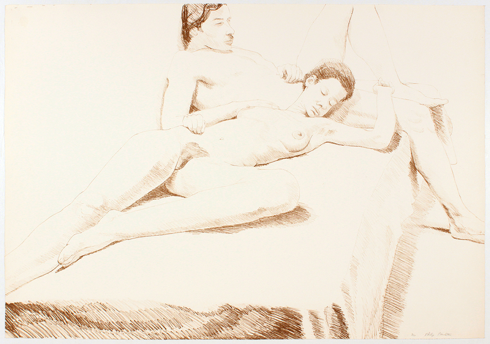 Nude Couple Oversize , 1968 Lithograph 69 x 99 1/2 cm