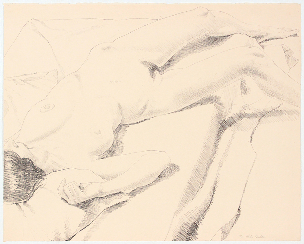 Diagonal Nude , 1968 Lithograph 51 x 63 1/2 cm