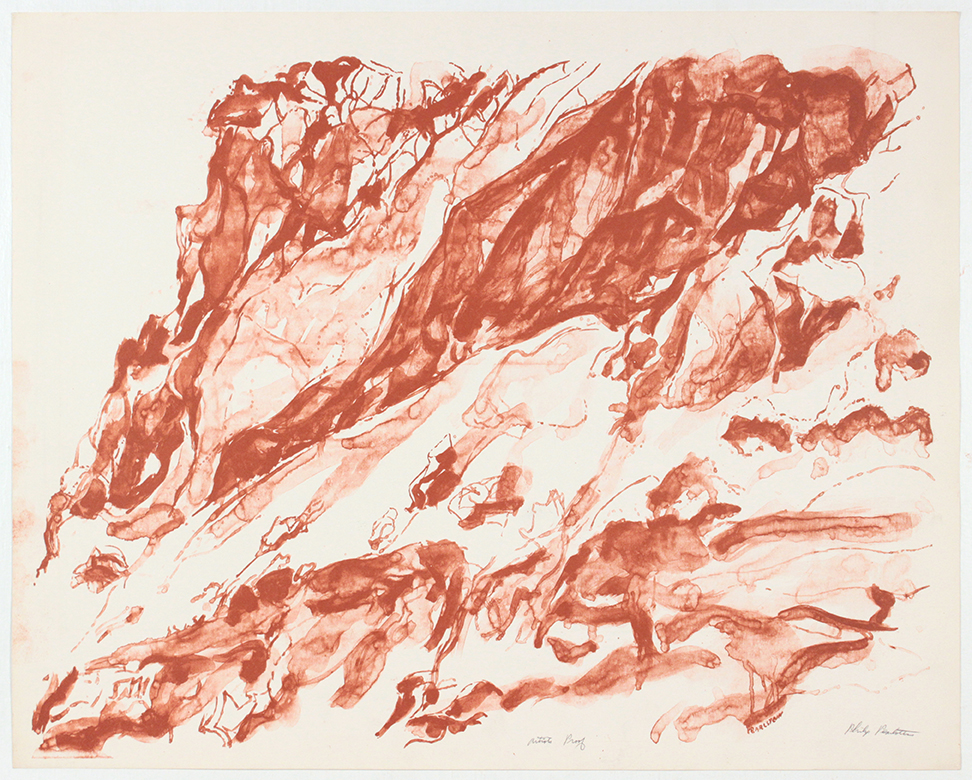 Cliff on the Amalfi Coast , 1959 Lithograph 58.8 x 73.8 cm