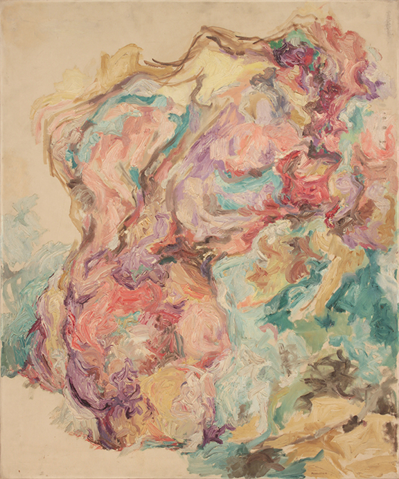 Torso,  1953 Oil on Canvas 36 x 30 in