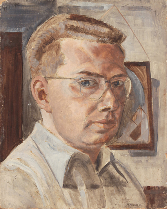 1948, Self Portrait, Casein on Board, 20x16, PPS (PP13808 ?).JPG
