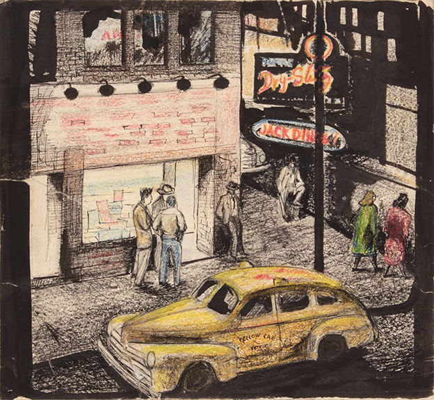 No Title (Jack Diner), 1940s Mixed Media on Paper 8.875 x 9.625 in