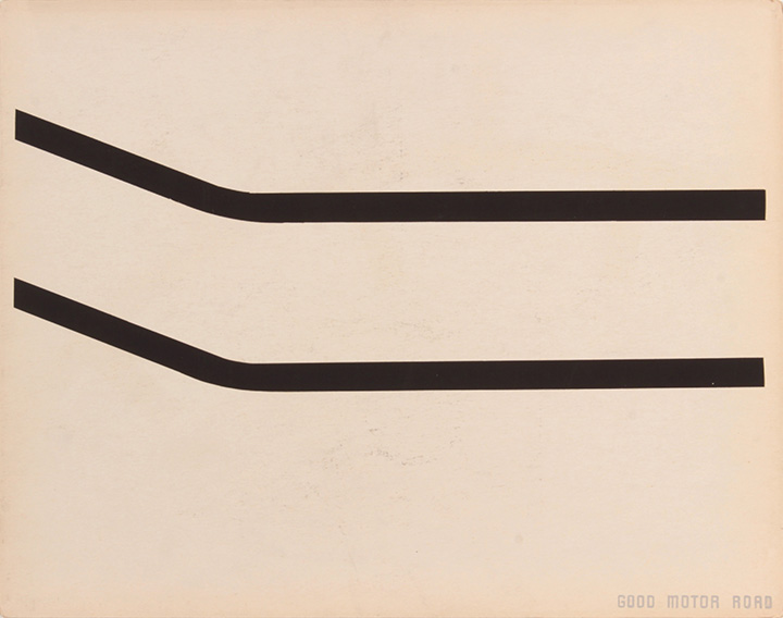 Good Motor Road (Back), 1943-44 Silkscreen 11 x 14 in
