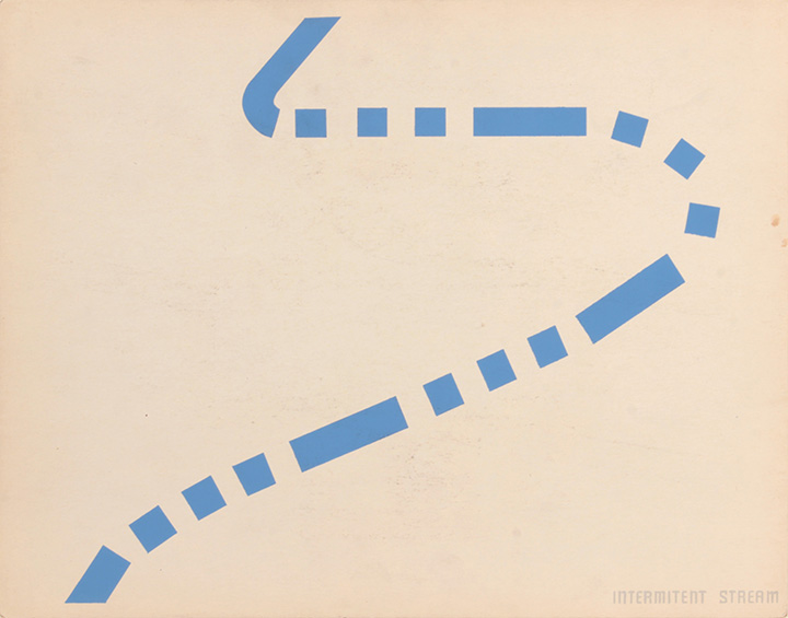 Intermitent Stream (Back), 1943-44 Silkscreen 11 x 14 in