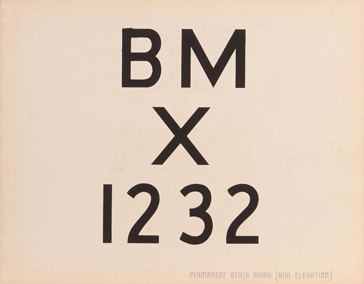 Permanent Benchmark (and Elevation) (Front), 1943-44  Silkscreen 11 x 14 in