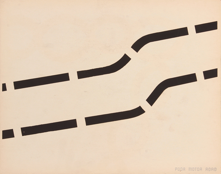 Poor Motor Road (Front), 1943-44 Silkscreen 11 x 14