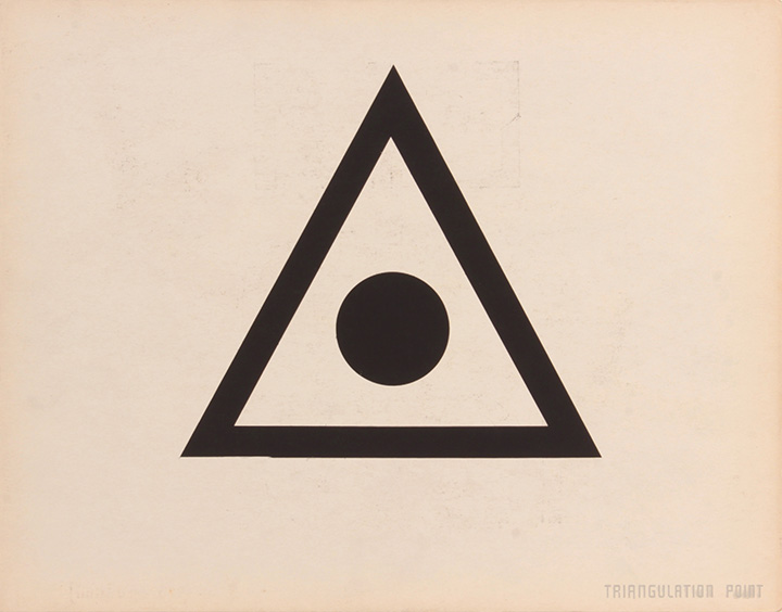 Triangular Point (Back), 1943-44 Silkscreen 11 x 14 in