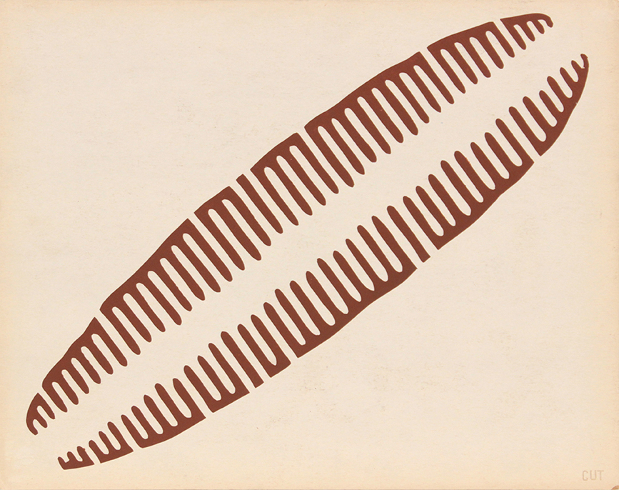 Image 59 (Back_Map Symbol), 1943-44 Silkscreen 11 x 14
