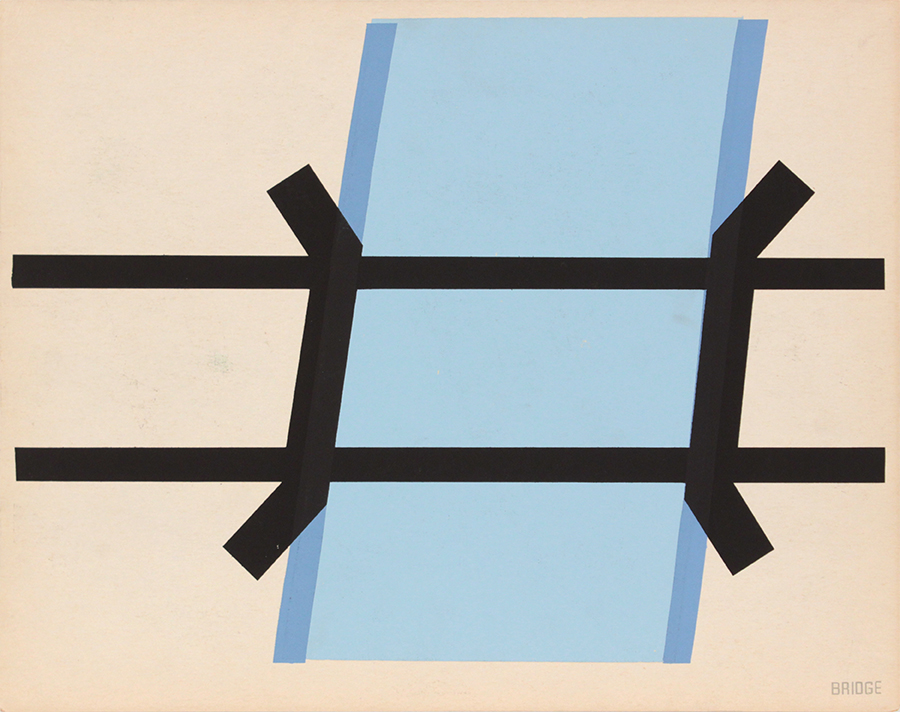 Image 60 (Back_Bridge), 1943-44 Silkscreen 11 x 14 in