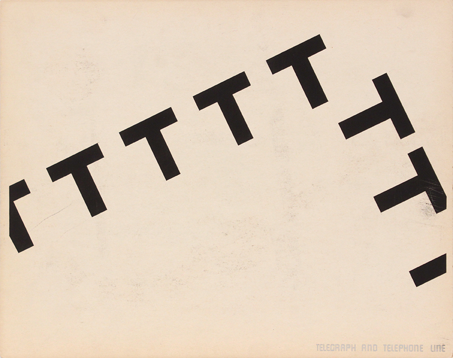 Image 60 (Front_Telegraph and Telephone Line), 1943-44 Silkscreen 11 x 14 in