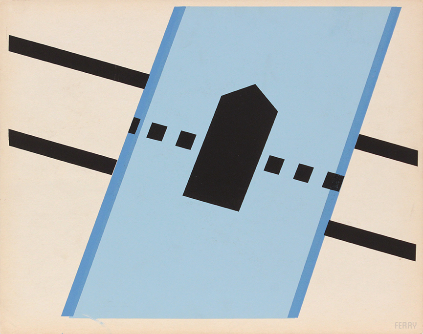 Image 61 (Front_ Ferry), 1943-44 Silkscreen 11 x 14 in
