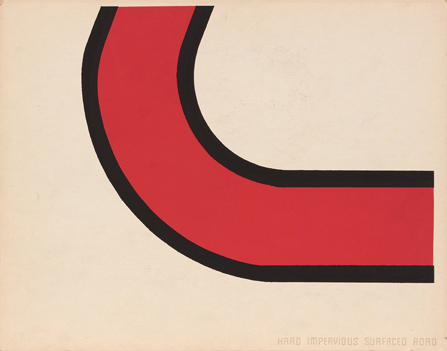 Image 62 (Front_Hard Impervious Surface Road), 1943-44 Silkscreen 11 x 14 in
