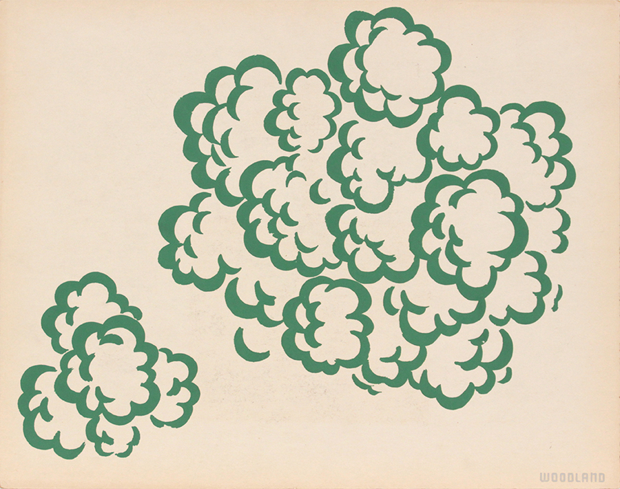 Image 63 (Woodland), 1943-44 Silkscreen 11 x 14 in