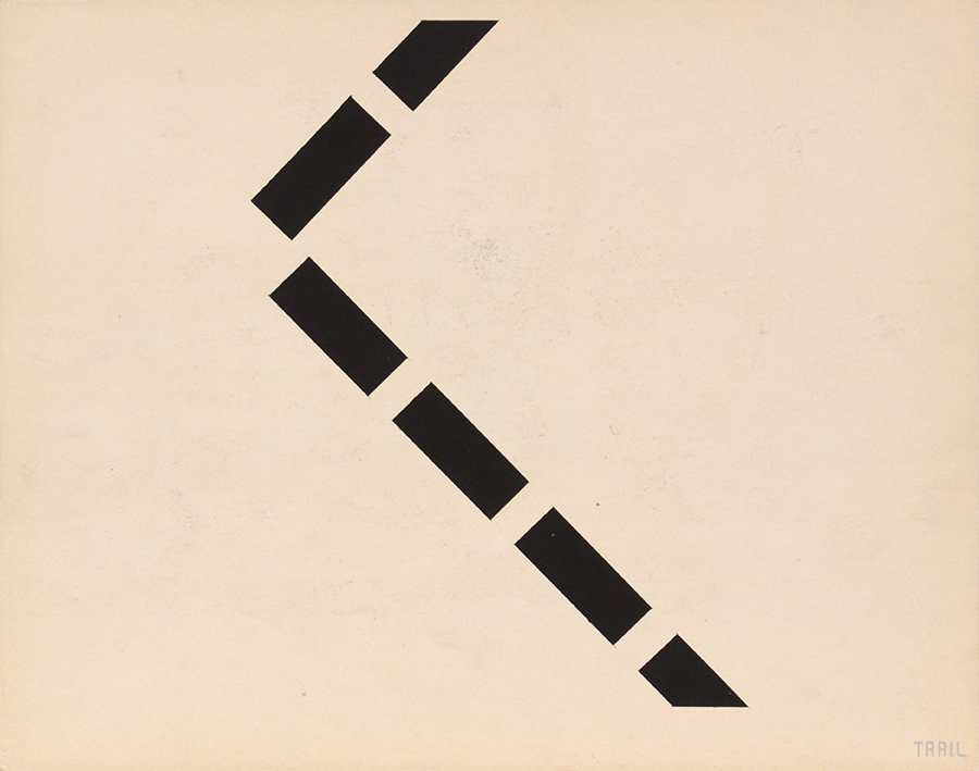 Image 64 (Back_Trail), 1943-44 Silkscreen 11 x 14 in