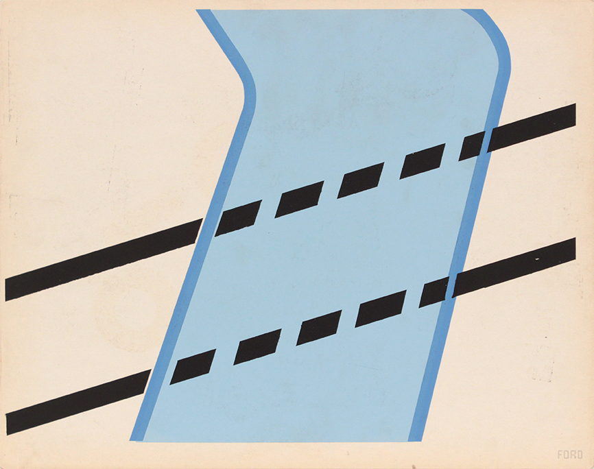 Image 65 (Back Ford), 1943-44 Silkscreen 11 x 14 in