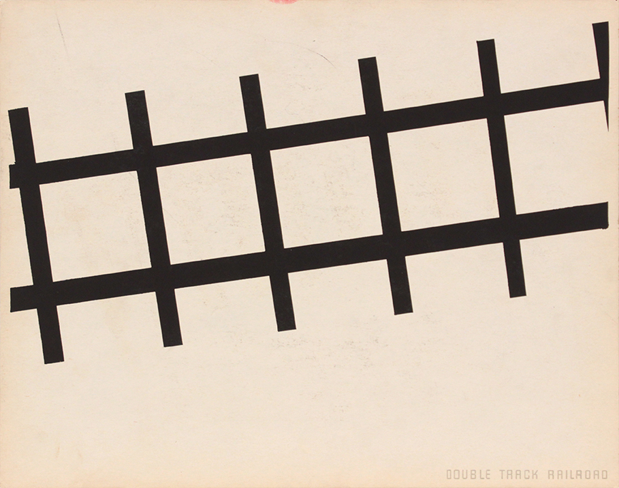 Image 65 (Front Double Track Railroad), 1943-44 Silkscreen 11 x 14 in