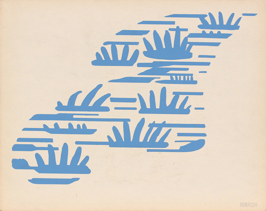 Image 66 (Front Marsh), 1943-44 Silkscreen 11 x 14 in