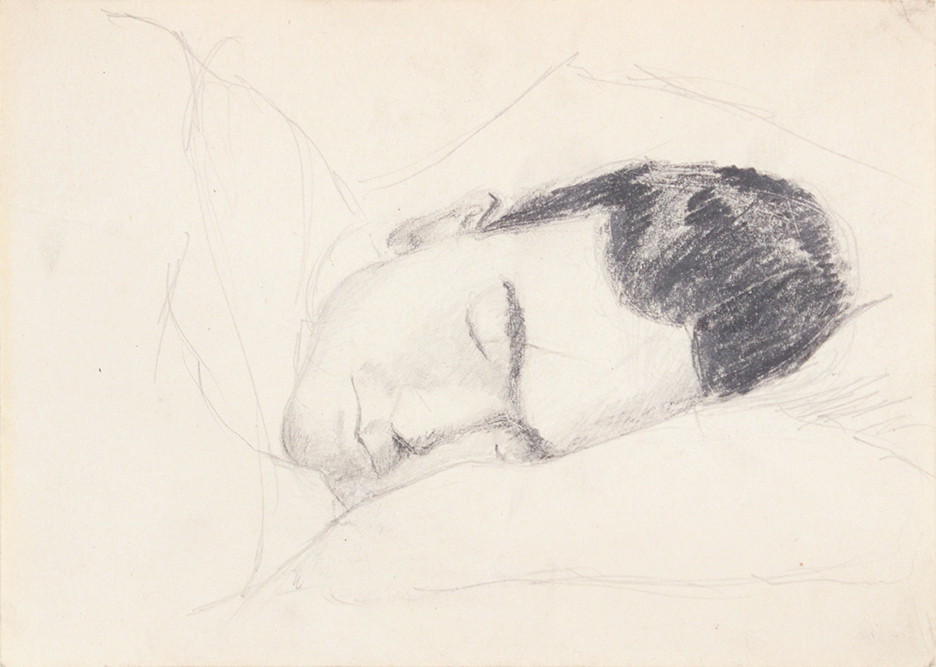 Training in Florida I, 1943 Drawing, Graphite 4.8125 x 6.75 in
