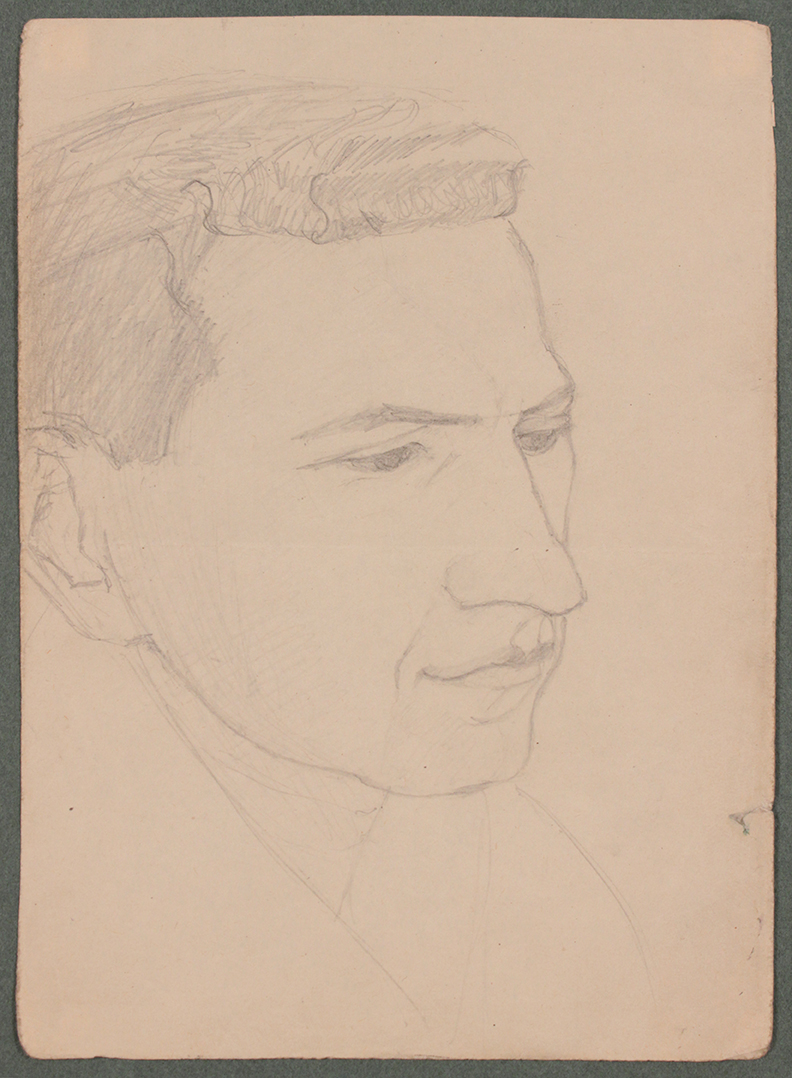 1944, Convoy to Italy XII, Grafitte, Drawing, 6.6875x4.875, PPS 1374.jpg