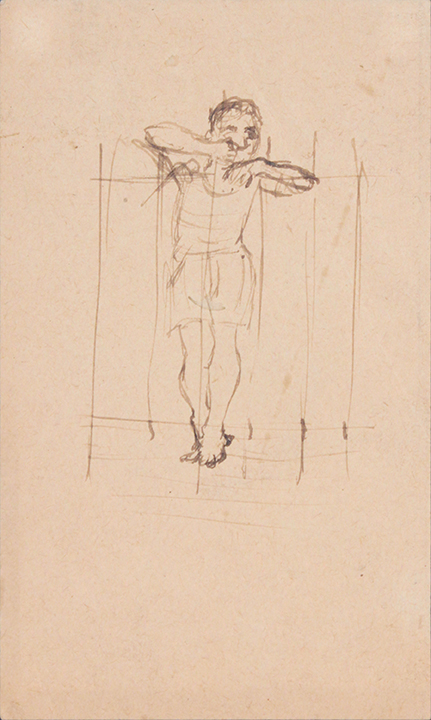 1944, Rome, Italy VI, Drawing, Pen and Ink on Paper, 5x3, PPS 1327.jpg