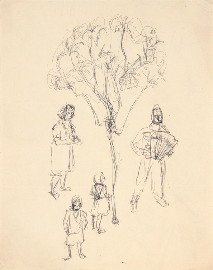 1944, Rome, Italy X, Graphite Drawing, 9.9375x8, PPS 1344.jpg