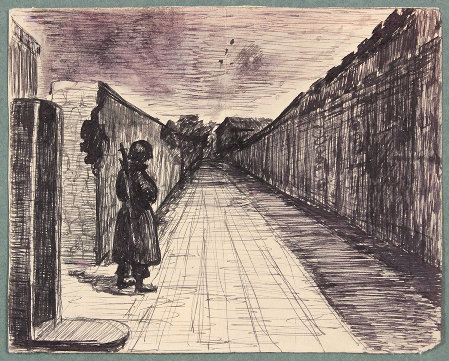 1944, Rome, Italy XII, Pen and Ink on Paper, Drawing, 4.8125x6.0625, PPS 1349.jpg