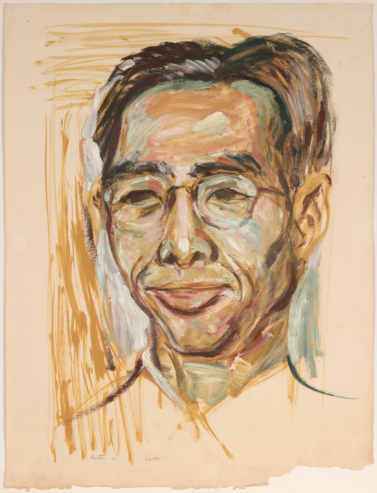 Lin Ho Portrait, 1949 Oil on Paper 25 1/4 x 19 in