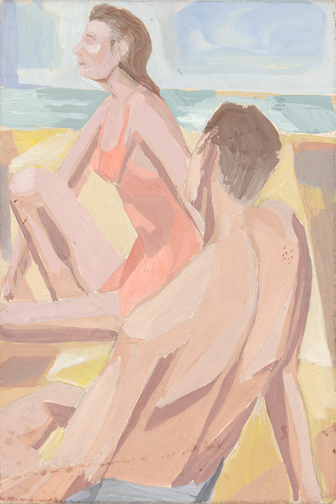 1940's c, NT (At the Beach), Casein on Paper Board, 10x6.75, PPS 1447.JPG