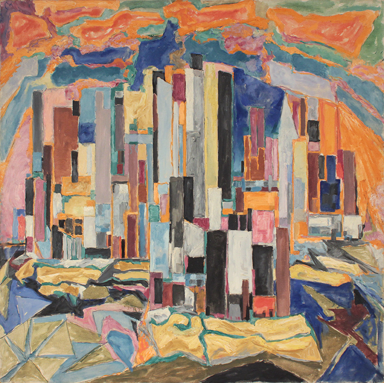 1951, The City, Oil on Canvas, 40x40, PPS 1552.JPG