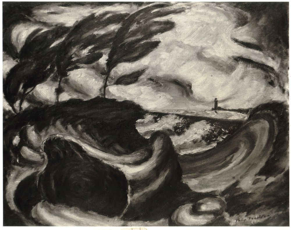 Storm on Lake Erie, 1940 Oil on board 16.75 x 19.875 in