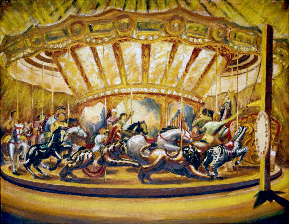 Merry go Round, 1940 Oil on board 14 x 18 in