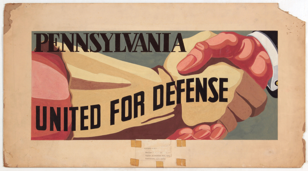 Pennsylvania United for Defense, 1940-41 c Casein on Paper 18 x 33 in