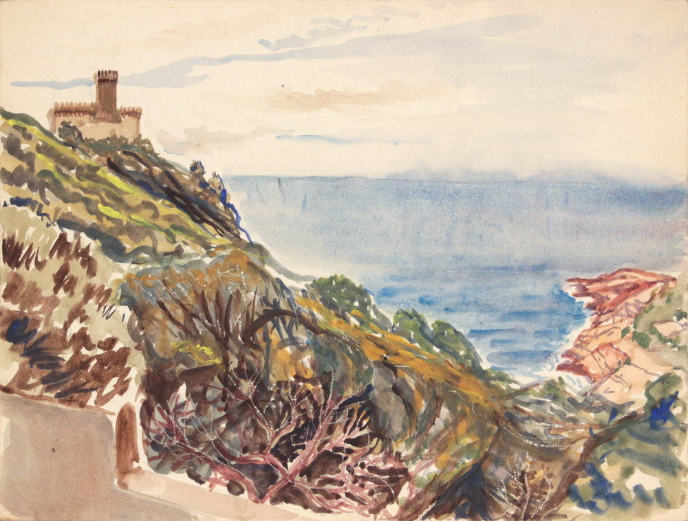 131. 1945, Marina Di Pisa II, Watercolor, 9x11.875, PPS 1320.JPG