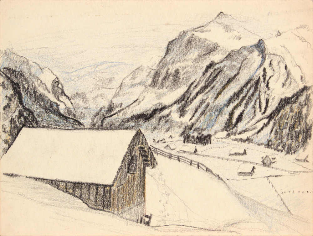 136. 1945 Fall, Switzerland I, Crayon, 9x11.875, PPS 1376.JPG
