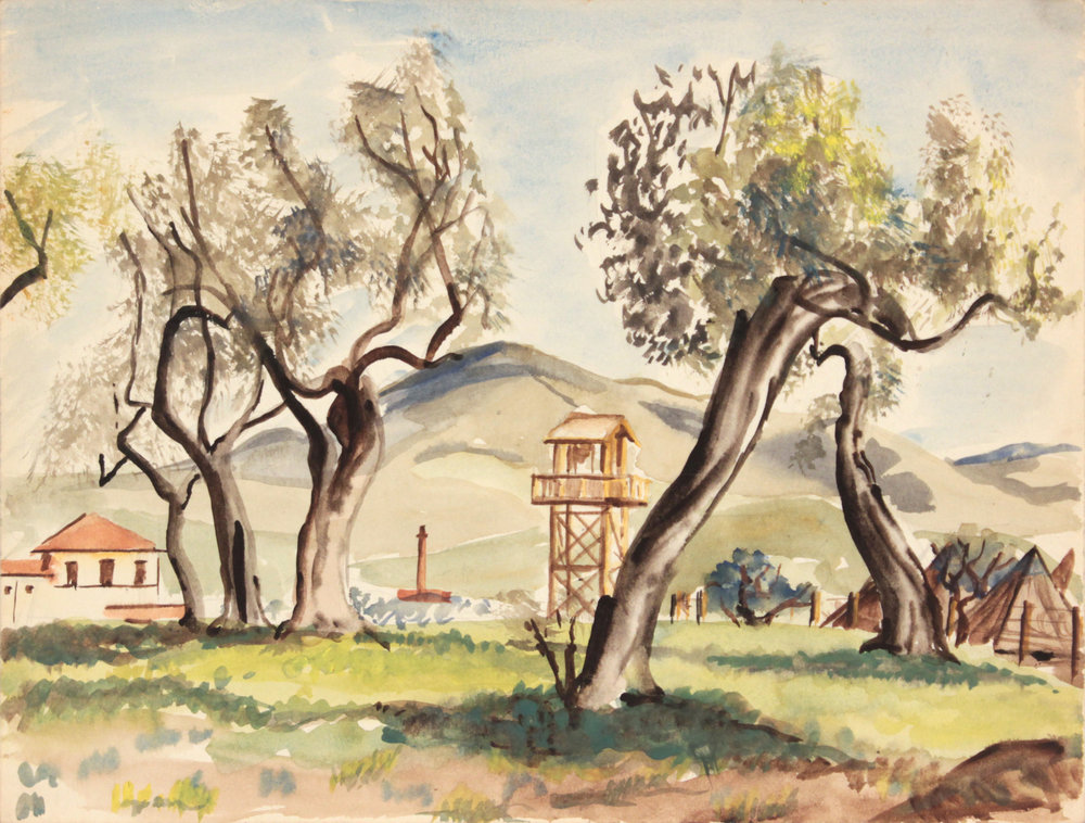 141. 1945-46 Winter, Livorno I, Watercolor, 9x11.875, PPS 1319.JPG