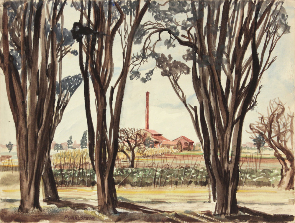 144. 1945-46 Winter, Livorno II, Italy, Watercolor, 9x11.875, PPS 1336.JPG