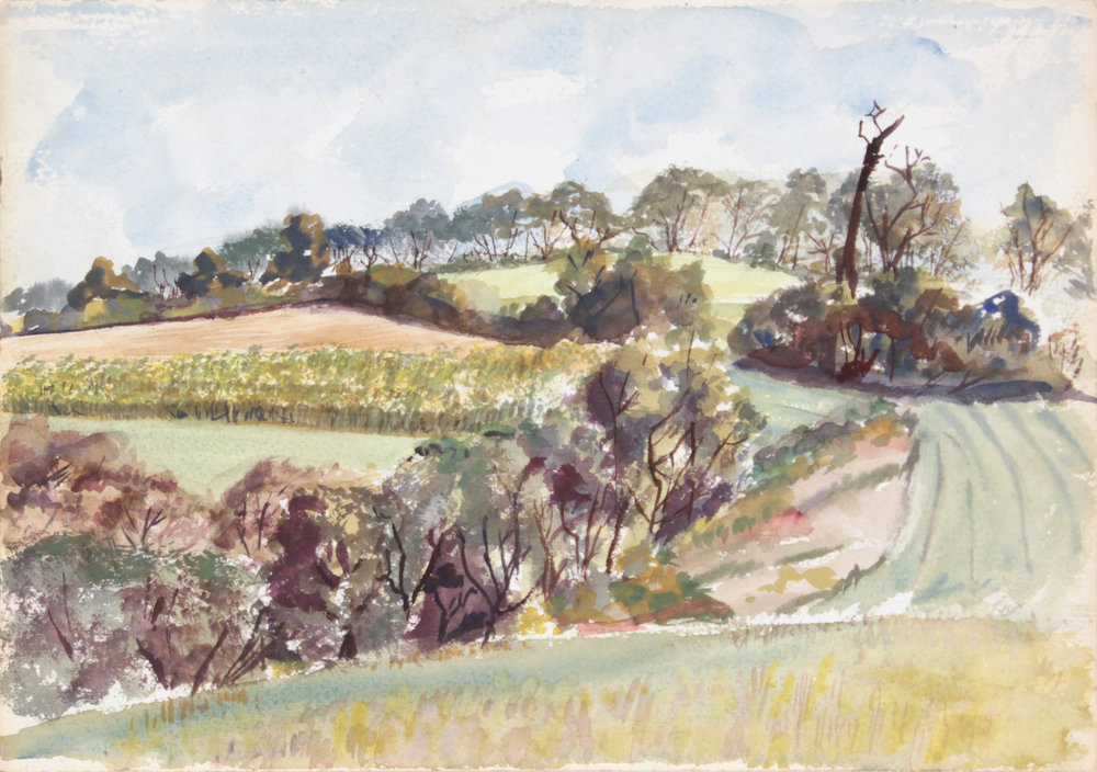 145. 1946 Summer, Pennsylvania, Watercolor, 10x14, PPS 1342.JPG