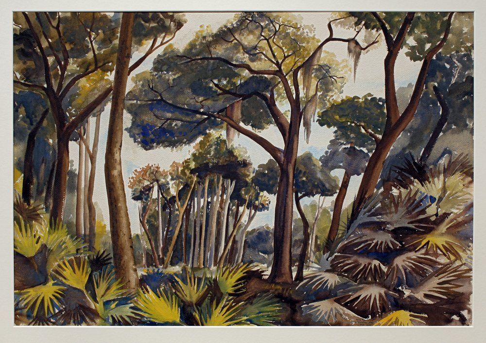 61. 1943-44 Fall:Winter, Swamp, Camp Blanding, Florida, Watercolor, 22.75x31, PPS814 copy.jpg