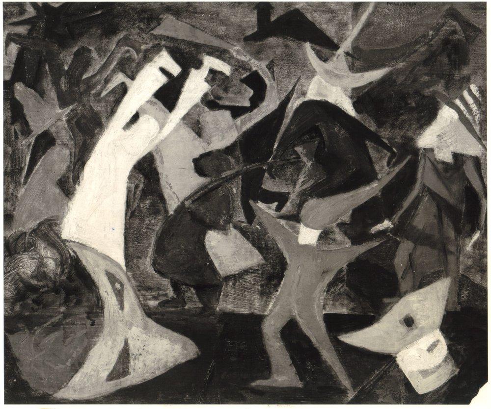 9. 1947-48 c, Halloween, Casein on board, 20x24, 1947-48.jpg