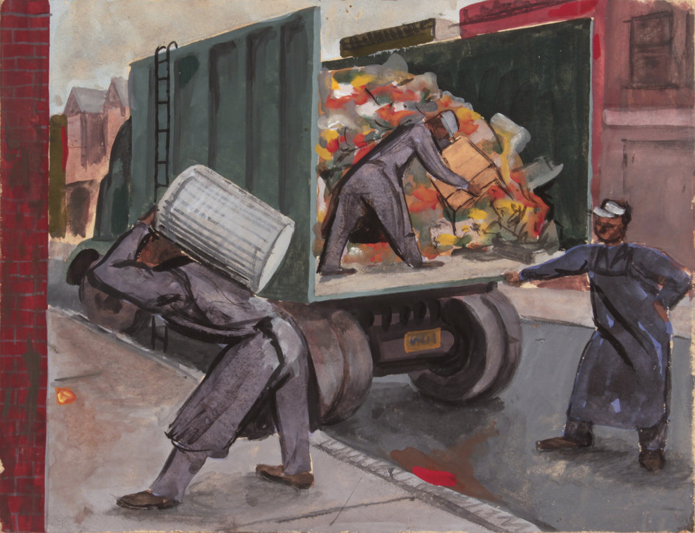 10. 1947-48 c, NT (Garbage Collectors), Casein  on Paperboard, 8.75x11.50, PPS 1485.JPG