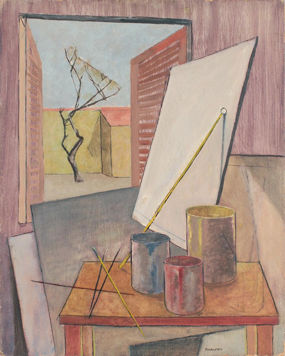 17. 1946-47 c, Still Life, Sign Shop in Italy, Oil on Board, 20x16, PPS 1554.JPG