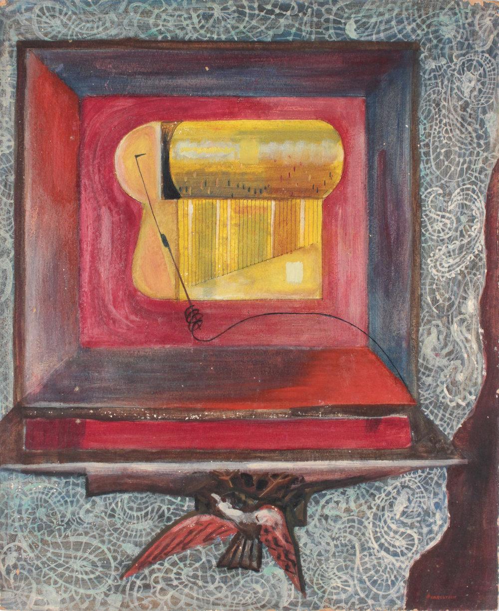 19. 1947-48 c, Music Box, Casein on Board, 24x20, PPS 1563.JPG