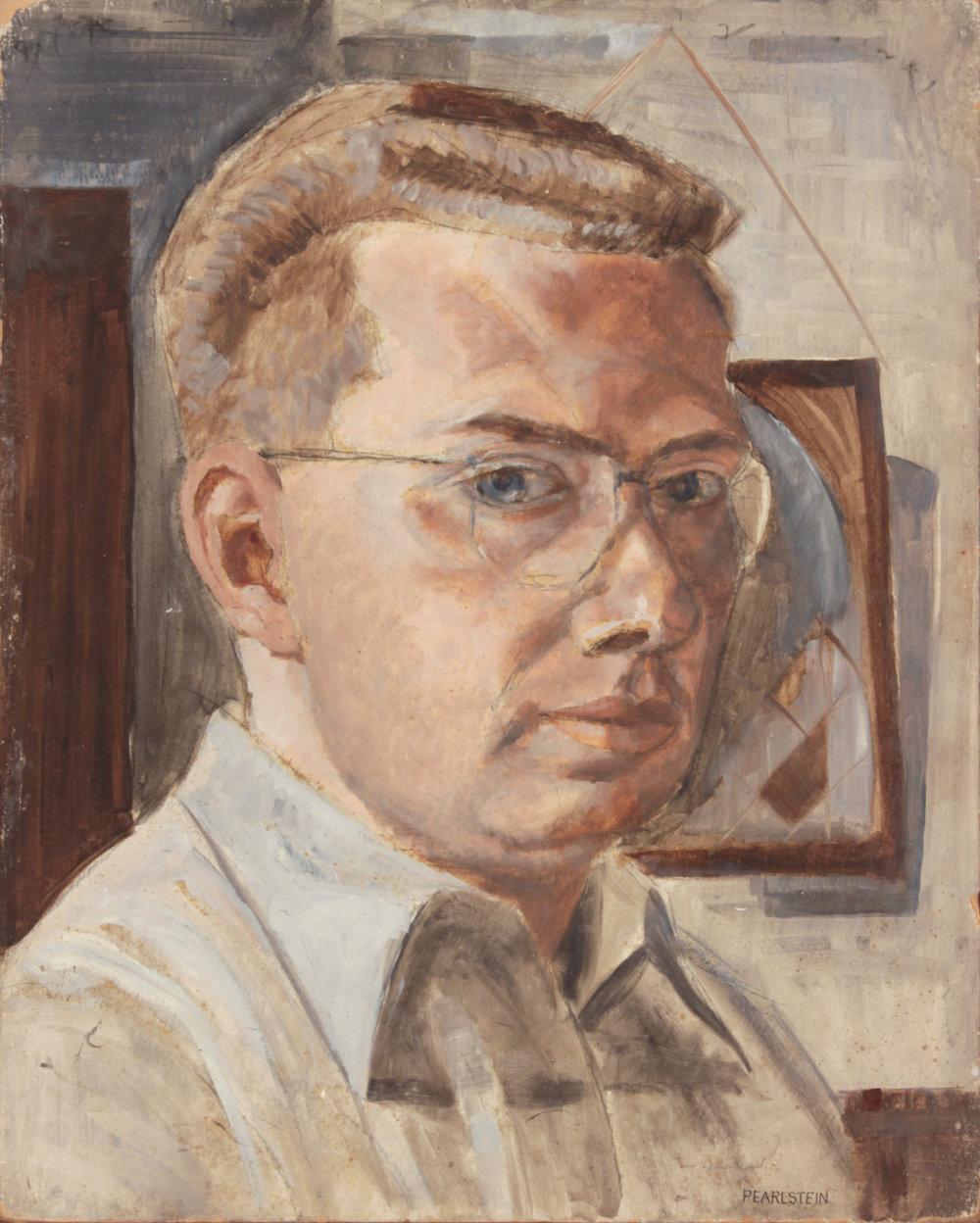 24. 1948, Self Portrait, Casein on Board, 20x16, PPS 821.JPG
