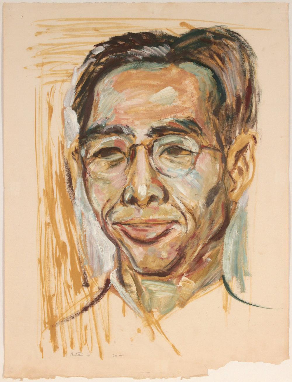 25. 1949, image 67, Lin Ho Portrait, Oil on Paper, 25 1:4x19, PPS 1406.JPG
