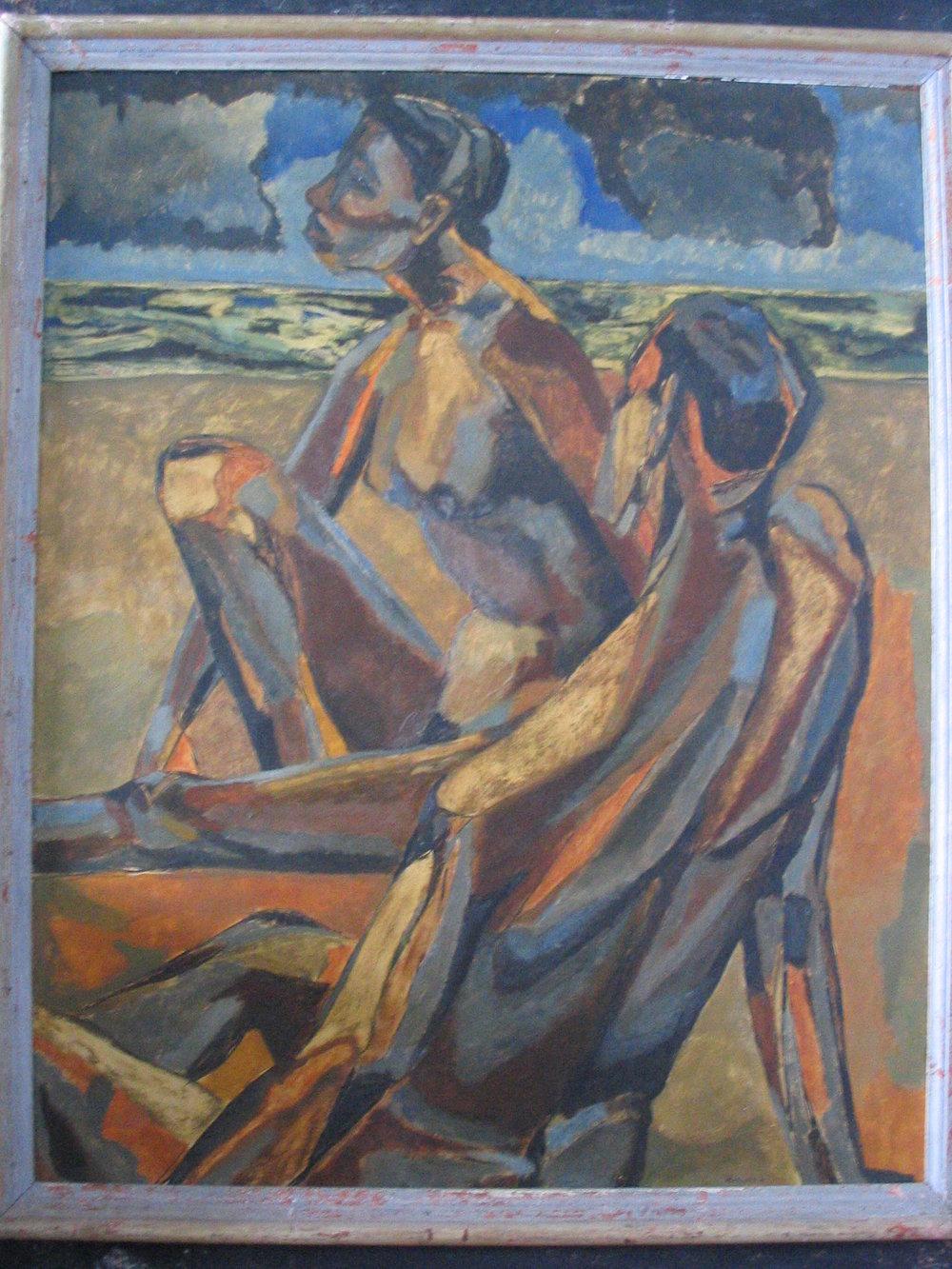 33. 1949, Two Nudes on a Beach (Melanctha), Oil on Canvas, 30 x 24.jpg