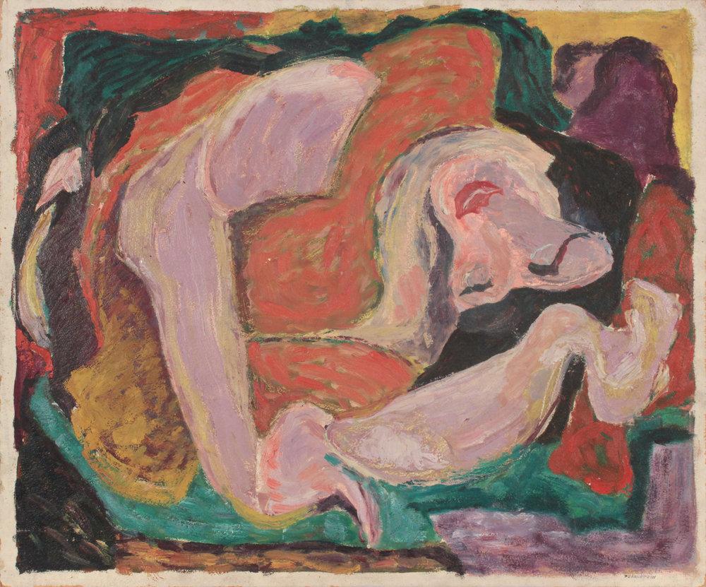 34. 1948, Sleeping Woman, Oil on Board, 20x24, PPS 1559.JPG