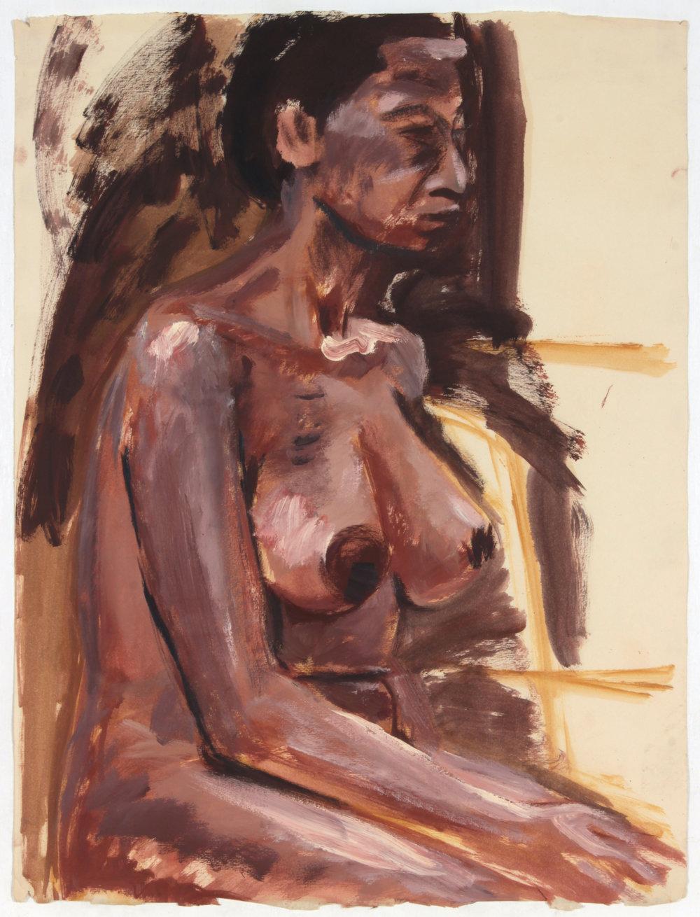 35. 1947-48 c, Model, Oil on Paper, 25x19, PPS 1433.JPG
