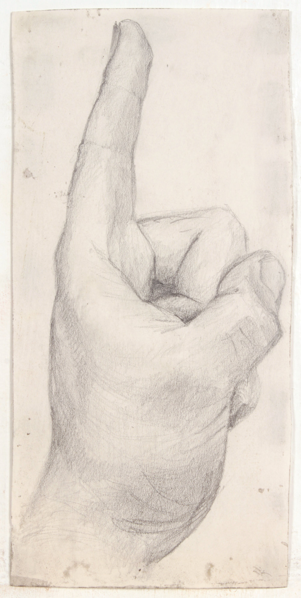 39. 1947-48 c, NT (Hand Study_Indicator Up), Graphite on Paper, 10x4.75, PPS 1489.JPG